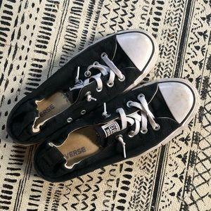 Black converse slip on sneakers